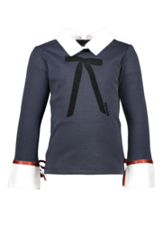 Nono t-shirt with fancy collar and cuff