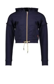 Nono Dora zip hooded short cardigan
