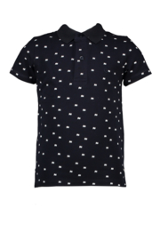 Le chic garcon polo all-over print blue