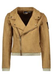 Flo neopreen suede biker jacket