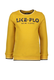 Flo boys sweater-mosterd