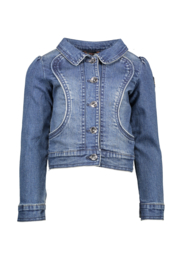 Nono danai denim jacket with fancy stitching