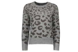 Flo Girls knitted animal multi lurex sweater