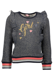 Bampidano Kids girls sweater volant