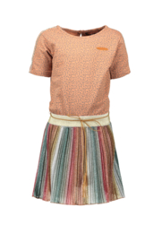 Nono dress glitter plissee stripe skirt, animal top