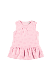 Bampidano baby girls sleeveless dress fancy fabric + knitted stripe tape