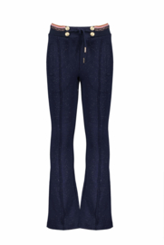 Nono flared pants with fancy rib and cord on waistband