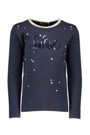Nono Kus t-shirt Believe artwork with foil dots blue