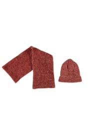 Nono winterset scarf + beanie indian rose