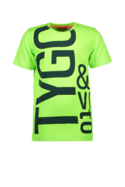 T&V t-shirt LOGO neon geen