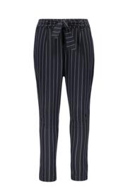 Flo girls stripe sweat pants navy