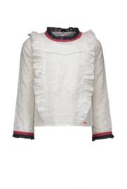 Nono Tessa blouse with contrast color ruffles
