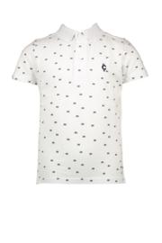 Le chic garcon polo all-over print white