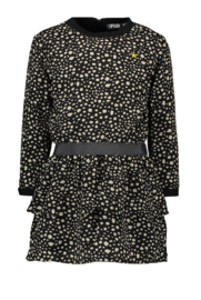 Flo girls black dot dress