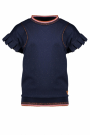 Nono sweat top with bat sleeves with pleated edge