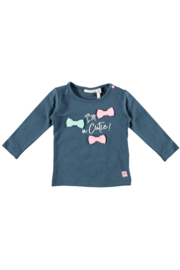 Bampidano baby girls t-shirt plain navy
