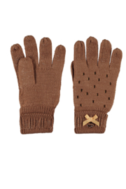 Le Chic knitted gloves gold