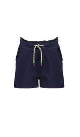 Nono Susie short solid pants with ruffle details