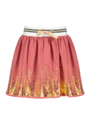 Nono nus chiffon skirt with foilprint at hem