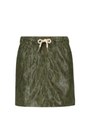 Flo girls metallic/snake leather skirt
