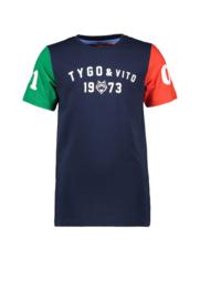 Tygo & Vito T-shirt contrast sleeves