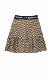 Nono Nulan pleated skirt AOP bias check