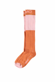 Nono Raelynn long socks colorblocking cinnamon
