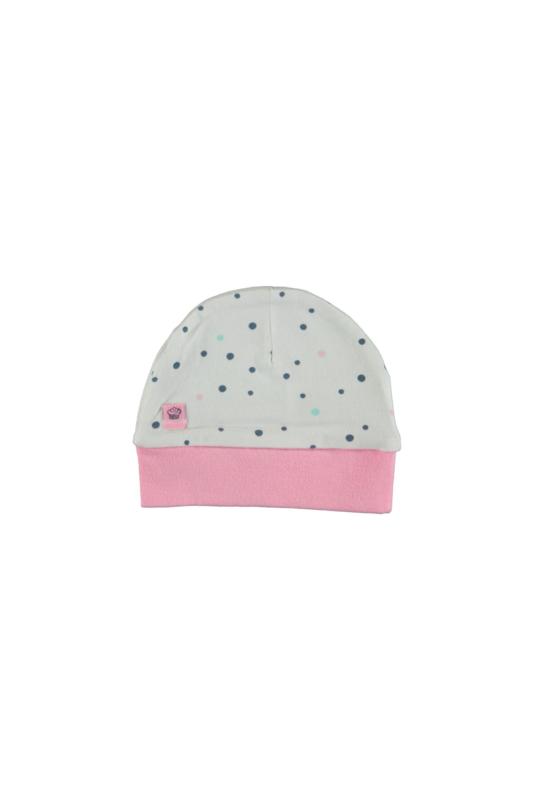 Bampidano baby girls bonnet allover print dots