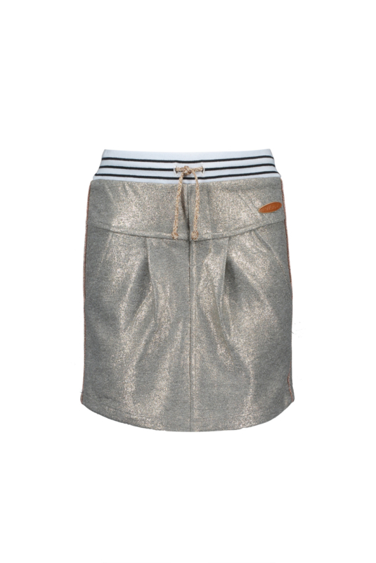 Nono skirt in glitter toweling, copper piping