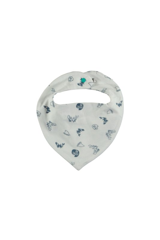 Bampidano baby boys triangle scarf allover print