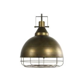 Hanglamp E27 ro Kamillo L brons
