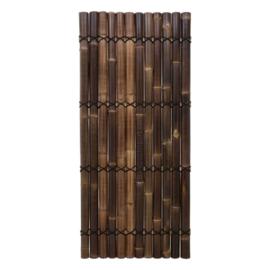 Halfrond Bruin Bamboescherm 90 x 200 cm