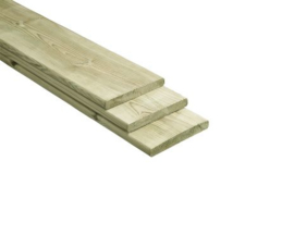 Schutting plank geimpregneerd