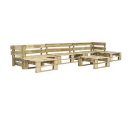 6-delige Loungeset pallet hout