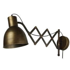 Muurlamp E27 ro Valerio brons