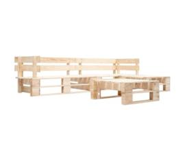 4-delige Loungeset pallet hout