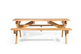 Hardhouten Picknicktafel Groot 250 x 160 x 75 cm