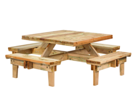 Picknicktafel Geïmpregneerd hout Vierkant 230 x 230 x 70 cm