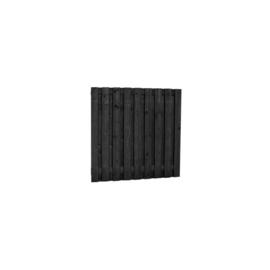 Hillhout Grenen 19 planks scherm zwart geimpregneerd