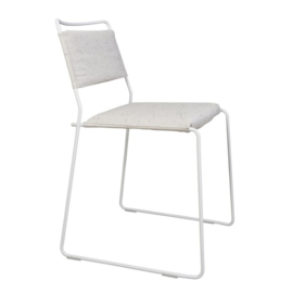 One Wire Chair - White Frame & melange cushions
