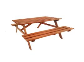 Picknicktafel Hardhout 160 x 150 x 75 cm Bladdikte 30 mm voor 4 personen