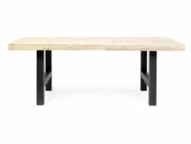 Tafel nieuwe steigerplanken en een houten onderstel (10x10 cm )