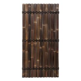 Halfrond Zwart Bamboescherm 90 x 180 cm
