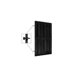 Hillhout Grenen zwart gespoten deur 100x190cm
