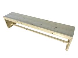 Bank van nieuw steigerhout met gesloten zijkanten
