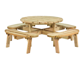 Picknicktafel Geïmpregneerd hout 219 x 73 cm Rond