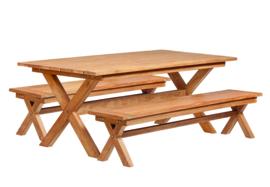 Luxe Picknickset Teakhout Kruispoot