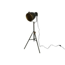Staande lamp E27 ro Guido L brons