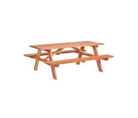 Luxe Hardhouten Picknicktafel 200 x 160 x 75 cm
