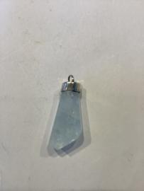 Aquamarijn met zilver cap 2/5 cm